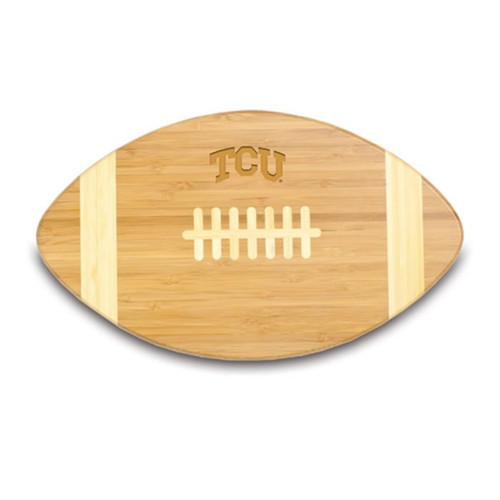 TCU Horned Frogs Engraved Football Cutting Board