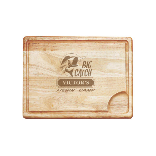 Big Catch Fishin' Camp Carving Board