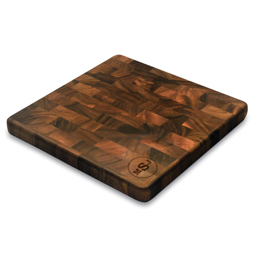 Circle Monogram Square End Graing Cutting Board
