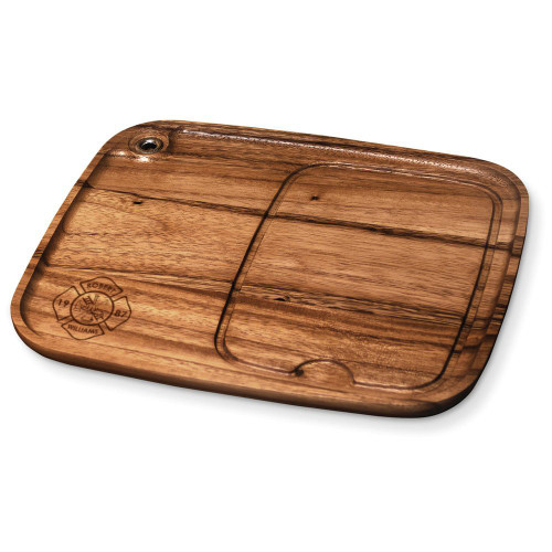 Fire Department Personalized Wood Steak Plate