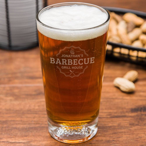 Grill House Personalized Golf Beer Glass