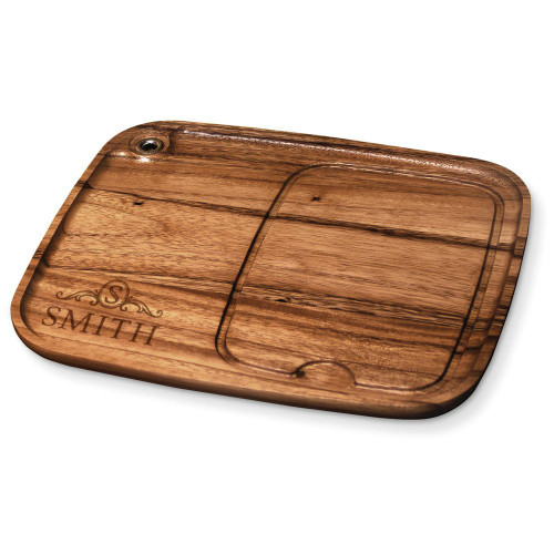 Langham Monogram Wood Steak Plate