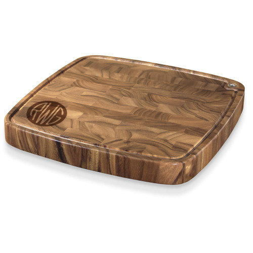 Solid Circle Monogram Carolina Cutting Board