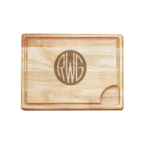 Solid Circle Monogram Carving Board