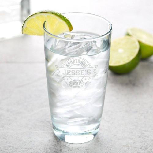 Sports Bar Personalized Hi-Ball Glass