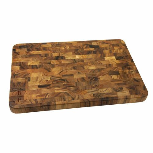 Vertical Monogram Personalized Large End Grain Cutting Board