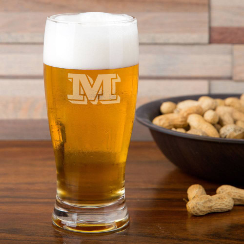 Vienta Initial Personalized Pilsner Glass