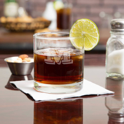 Vienta Initial Personalized Whiskey Glass