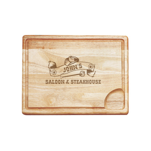 Western Saloon Personalized Carving Board