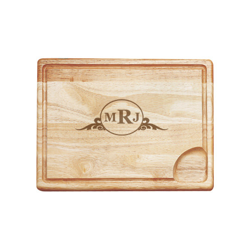 Western Scroll Personalized Carving Board