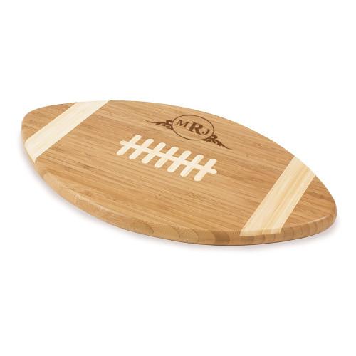 Western Scroll Personalized Football Cutting Board