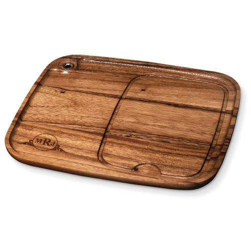Western Scroll Personalized Wood Steak Plate