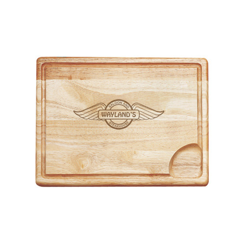 Winged Shield Personalized Carving Board