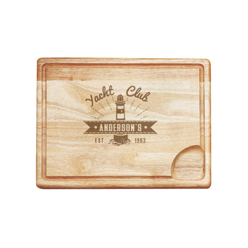 Yacht Club Personalized Carving Board