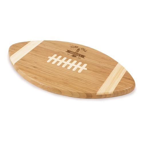 Yacht Club Personalized Football Cutting Board