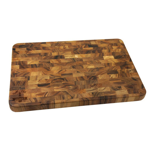 Yacht Club Personalized Large End Grain Cutting Board