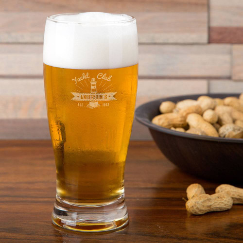 Yacht Club Personalized Pilsner Glass