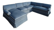 Round Arm Lawson Sectional