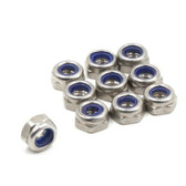 M5 Stainless Steel CCW Nylock Nut - Low Profile (10 Pack)
