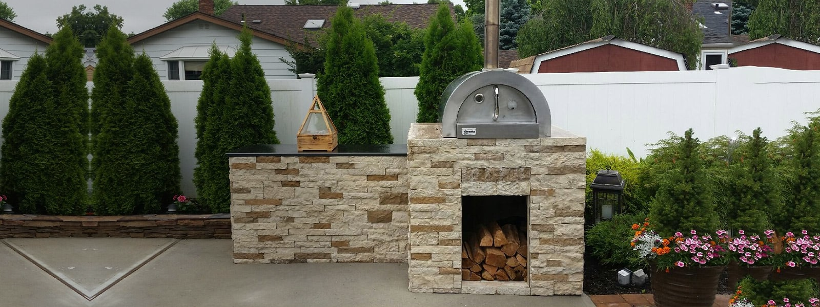 fully assembled wood fired pizza ovens