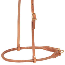 Western Natural Leather Rolled Noseband By Aledo Saddlery