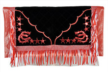 western red & black show barrel rodeo saddle pad