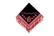 western show barrel red/black rodeo saddle pad