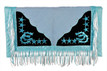 water blue/white show barrel rodeo saddle pad