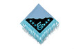 western show barrel rodeo water blue/white saddle pad