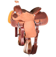 Western Havana Strip Down Leather Roper Ranch with Cinch  By Aledo Saddlery