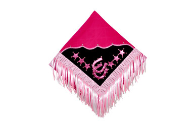 western pink/white show barrel rodeo saddle pad