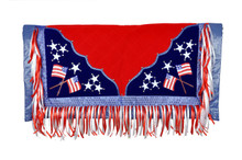 western american flag painted rodeo saddle pad