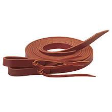 """Western Brown Leather 96"""" Long Split Reins with quick Release  By Aledo Saddlery"""