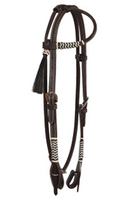 western leather rawhide braided one ear headstall