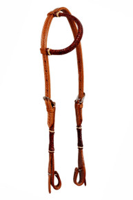 leather one ear style rawhide braided headstall