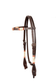 western browband Style leather headstall