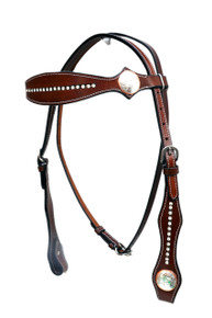 Headstall Breast Collar Reins Spur Strap & Curb Strap Set