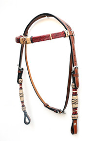 black browband headstall/breast collar & reins set