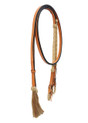 western leather tan rawhide braided split reins
