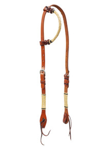 western leather rawhide braided one ear style headstall
