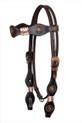 dark oil rawhide braided headstall & breast collar set
