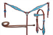 western leather headstall/breast collar & reins