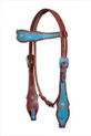 leather headstall/breast collar & reins