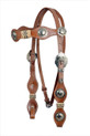 leather headstall & breast collar
