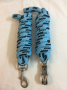 western nylon blue/black roping reins