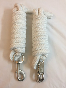 western nylon white braided and knotted roping reins