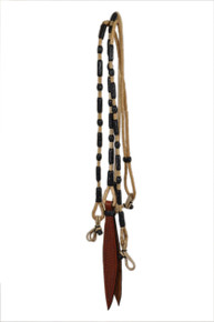 western black & white rawhide braided in romel reins