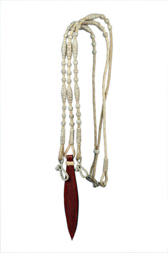 western natural color rawhide braided in romel reins