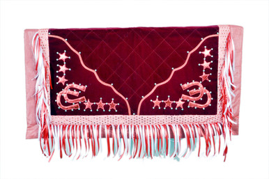western cherry barrel rodeo show horse saddle pad