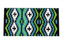 western multi color wool saddle pad